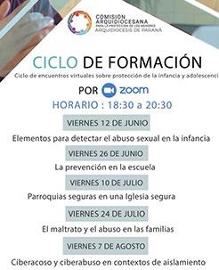 Ciclo de formación virtual desde la Comisión Arquidiocesana de Paraná