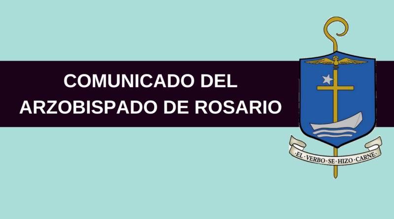 Comunicado del Arzobispado de Rosario